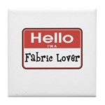 Fabric Lover Nametag Tile Coaster