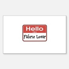 Fabric Lover Nametag Rectangle Decal
