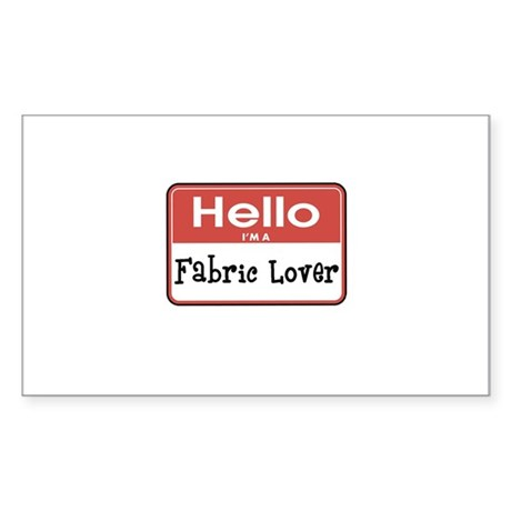 Fabric Lover Nametag Rectangle Sticker