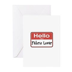 Fabric Lover Nametag Greeting Cards (Pk of 20)