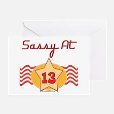 Sassy At 13 Greeting Card