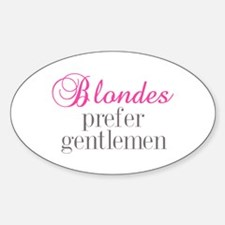 Blondes Oval Decal