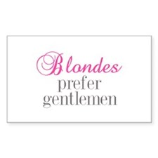 Blondes Rectangle Decal