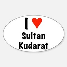 I love Sultan Kudarat Oval Decal