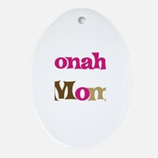 Jonah's Mom  Oval Ornament
