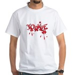 Yorkie Graffiti White T-Shirt
