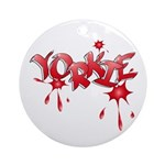 Yorkie Graffiti Ornament (Round)