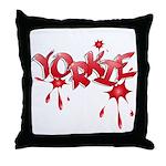 Yorkie Graffiti Throw Pillow