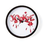Yorkie Graffiti Wall Clock