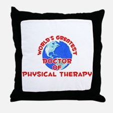 World's Greatest Docto.. (F) Throw Pillow