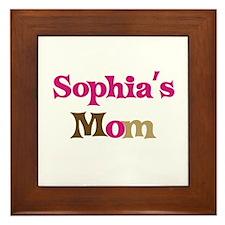 Sophia's Mom Framed Tile