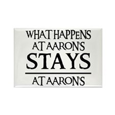 STAYS AT AARON'S Rectangle Magnet