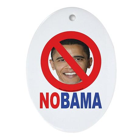NO OBAMA Oval Ornament
