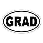 GRAD Euro Style Oval Sticker