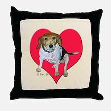 Daisy the Beagle Throw Pillow