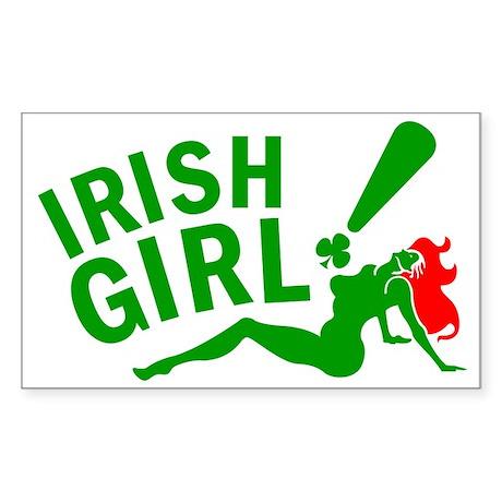 Redhead Irish Girl Rectangle Sticker