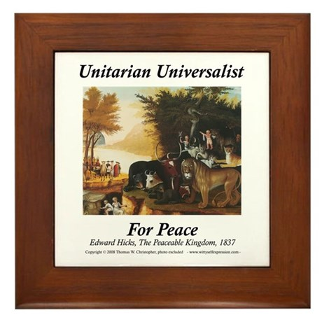 UU for Peace Framed Tile