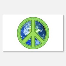 World Peace Rectangle Decal