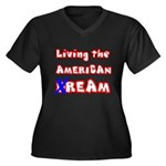 Living The American Ream Women's Plus Size V-Neck