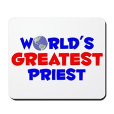 World's Greatest Priest (A) Mousepad
