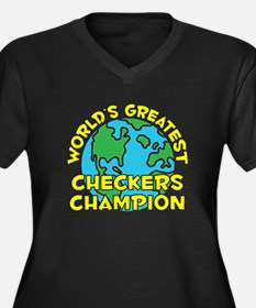 World's Greatest Check.. (H) Women's Plus Size V-N