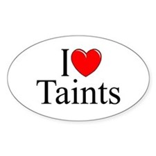 """I Love (Heart) Taints"" Oval Decal"