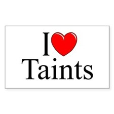 """I Love (Heart) Taints"" Rectangle Decal"