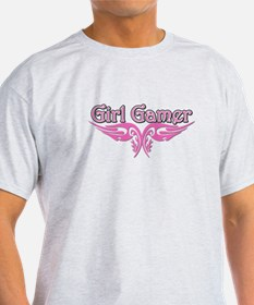 Girl Gamer with Flame T-Shirt