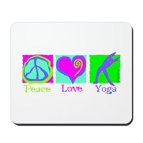 Peace Love Yoga Mousepad