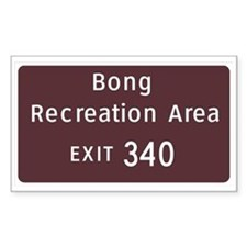 Bong State Recreation Area Rectangle Decal