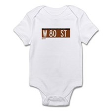 80th Street in NY Infant Bodysuit