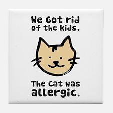 Kept the Cat Tile Coaster