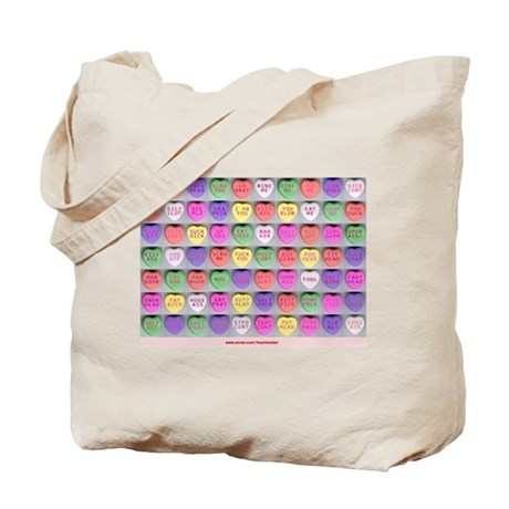 Valentines Day Evil Candy Hearts Tote Bag