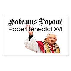 Habemus Papam! Rectangle Decal