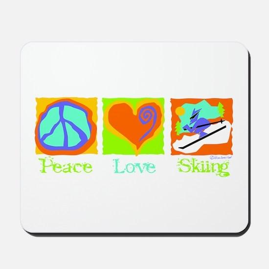 Peace Love Skiing Mousepad