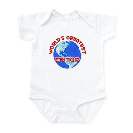 World's Greatest Editor (F) Infant Bodysuit