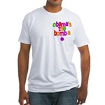 Obama's the Bomba Fitted T-Shirt