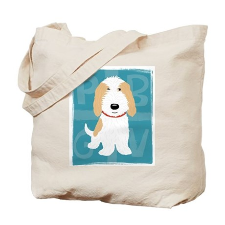 Tan & White PBGV Tote Bag