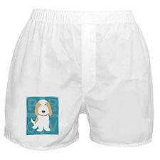 Tan & White PBGV Boxer Shorts