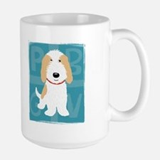 Tan & White PBGV Large Mug