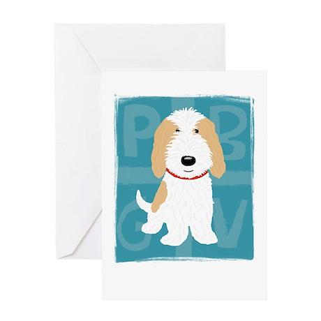 Tan & White PBGV Greeting Card