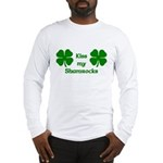 Kiss my Shamrocks Long Sleeve T-Shirt