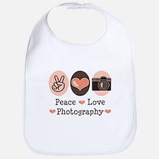 Peace Love Photography Camera Bib