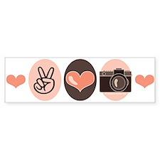 Peace Love Photography Camera Bumper Bumper Sticker