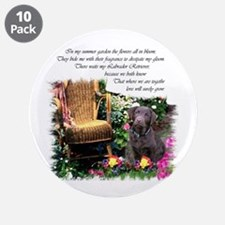 """Chocolate Lab Art 3.5"""" Button (10 pack)"""