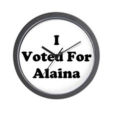 I Voted For Alaina Wall Clock