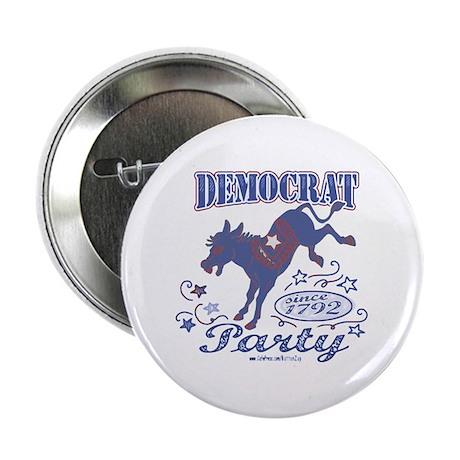 "Retro Democrat Donkey 2.25"" Button (10 pack)"