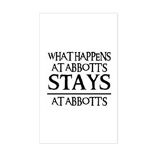 STAYS AT ABBOTT'S Rectangle Decal