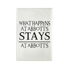 STAYS AT ABBOTT'S Rectangle Magnet