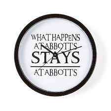 STAYS AT ABBOTT'S Wall Clock